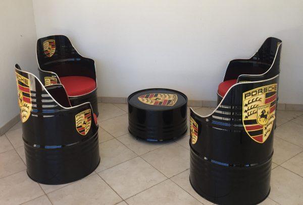Salon Porsche personnalisé