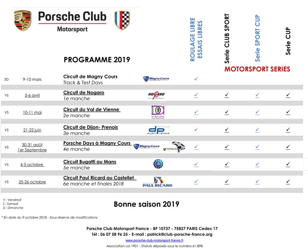 Porsche-Club-Motorsport-Programme